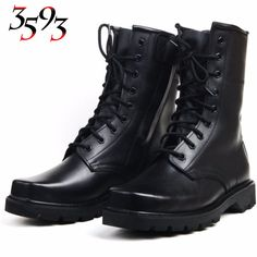 3593 New Arrive Genuine Cow Leather Zipper Boots Big Yards Winter Wool Military Shoes Waterproof Anti-collision Wear-resisting
