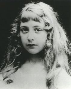 Childhood photograph of Agatha Christie