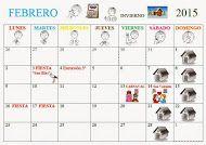 Calendario de FEBRERO 2015