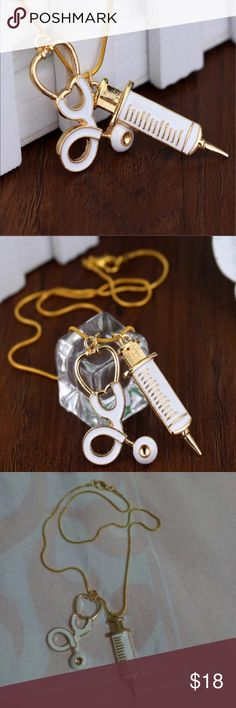 """Nurse Necklace Cute necklace. Chain is 16"""". New in package. Makes a wonderful gift!!! Jewelry Necklaces"""