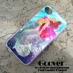 Little mermaid Galaxy Nebula case for iphone 4 by Gcover on Etsy, $14.25