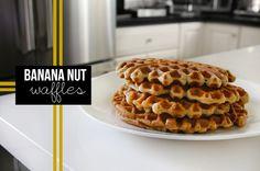 Making @shutterbean Banana But Waffles for breakfast!