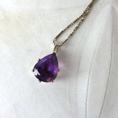 Natural Amethyst Necklace Gemstone Necklace by sandcastlejewels