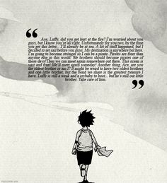 I'm crying on the inside. At first Luffy seems so care free, but he's just covering up such a hard past :'(