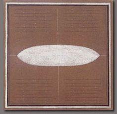 Agnes Martin Composición Marrón (1.961) Óleo sobre lienzo. 0.31 x 0.31 m.Colección Sylvio Perlstein, Amberes, Bélgica