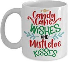 Nightnare before Christmas mug - Candy Cane Wishes and Mistletoe Kisses - Funny Christmas Mugs, Christmas Mugs for family ...