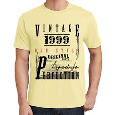 #vintage #birthday #men #tshirt  You have to get one of these t-shirts right now! These make perfect gifts! --> https://www.teeshirtee.com/collections/collection-vintage-birthday-yellow/products/1999-mens-short-sleeve-rounded-neck-t-shirt-1