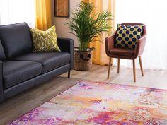 Tappeto a pelo corto multicolore 160 x 230 cm ISPARTA Traditional Interior, Saturated Color, Colorful Rugs, Damask, Ornament, Area Rugs, Decoration, Carpet, Design Inspiration