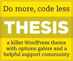 Thesis Theme for WordPress is the ONLY paid theme I would recommend for taking your blog tot he next level | www.SlenderSuzie.com