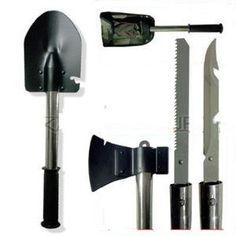 Ultimate Survival Knife Shovel Axe Emergency Camping Hiking Gear Kit Tools   eBay