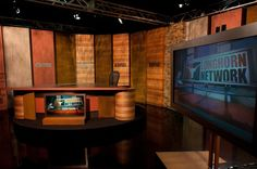 Explore photos of Longhorn Network's TV set design in this interactive gallery of the studio. Tv Set Design, Longhorn Network, Studio, Gallery, Sport, Decor, Deporte, Decoration, Roof Rack