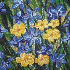 Lovely #mosaic #flowers
