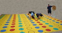 BIG Twister game! - cabin time activity!