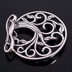 T-142 Sterling Silver Tree Toggle - beautiful clasp from starsclasps.com
