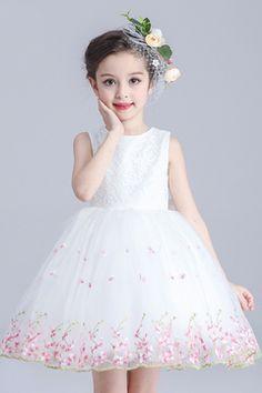 Comprar 2016 vestido de flor chica Baratos Venta En Línea 2 11 -  VestidoBello.com. 2016 lovely short mini scoop flower girl dresses lace ... 0b0df532b5c3