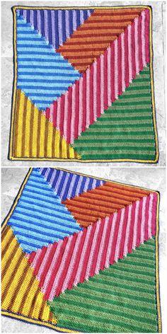 Green Tea Fields Blanket Crochet
