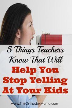 Do you wish you could stop yelling at your children?  These teaching tricks may help!  Shared by a teacher and mother  of three.