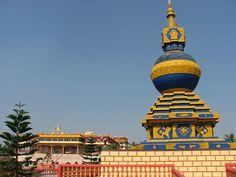 Kalachakra stupa at Mundgod by cbandi, via Flickr