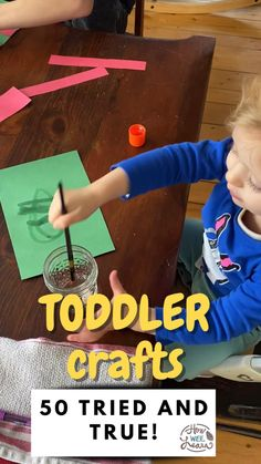 50 Perfect Toddler Crafts!