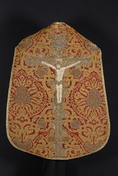 Brocade Chasuble - Spanish brocade with Hungarian embroidery - 1575-1600 - Back View