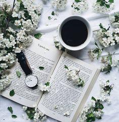 Books flowers