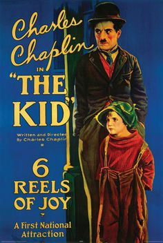 Charlie Chaplin The Kid Vintage Style Poster