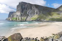 Discover the deserted beach at Kvalvika, where whale bones lie bleached in the sun.