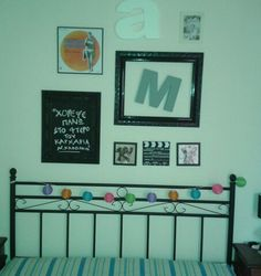 Wall with frames.