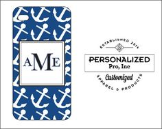 Blue & White Anchor Design by PersonalizedPro