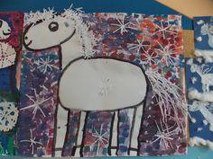 Přijel k nám bílý kůň, zalehl nám celý dvůr... Craft Projects For Kids, Arts And Crafts Projects, Winter, Winter Time, Winter Fashion