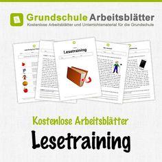 Kostenlose Arbeitsblätter und Unterrichtsmaterial für den Deutsch-Unterricht zum Thema Lesetraining in der Grundschule.