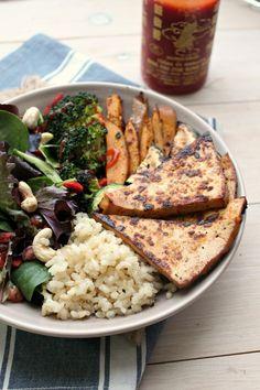 4-Ingredient Crack Tofu + Superfood Abundance Bowls