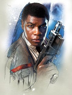": Visit Artist Store Description: Official Star Wars The Last Jedi Character Portraits Finn artwork by artist ""Star Star Wars Film, Star Wars Holonet, Finn Star Wars, Star Wars Party, Star Wars Tattoo, Star Wars Quotes, Star Wars Humor, Star Wars Characters, Star Wars Episodes"