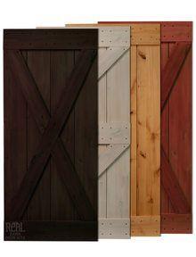 Rustic Alder Barn Door Colors