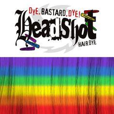 Das Rainbow Set in einer Headshot Geschenkbox enthält alle sechs Headshot Haarfaben, die du für das Färben von Rainbow Hair benötigst:  1 x Hellfire Red (150 ml), 1 x Captain Carrot (150 ml), 1 x Yippie Ya Yellow (150 ml), 1 x Desaster...