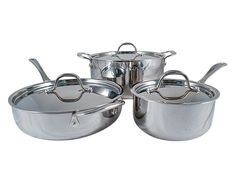 Le Chef 5-ply Stainless Steel 6 Piece Cookware Set with Stainless Steel Lid. -- Check out the image by visiting the link.