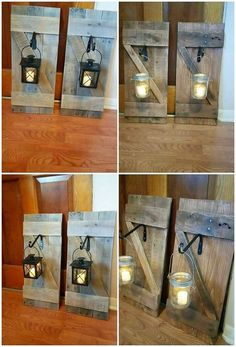 Capture the few unused wood pallet planks in your hands and carry it out with the designing creation of the beautiful wood pallet lamp holder. It do involve the simple art work designing in the standing position where the lamp accessory can be held by using the hook. #Woodworking