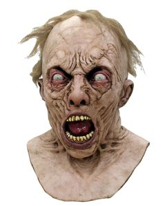 Create an incredible costume when you decide to use this officially licensed World War Z Scientist Zombie Mask. Right from the movie, this mask features impeccable detail including hair and bulging eyeballs!