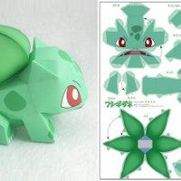 Cats Toys Ideas - photo Bulbasaur paper toy by ten paper via papermau - Ideal toys for small cats 3d Pokemon, Pokemon Craft, Pokemon Bulbasaur, Pokemon Party, Pokemon Birthday, 3d Paper Crafts, Paper Toys, Diy Paper, Fun Crafts