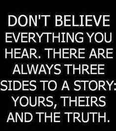 Three sides to the #truth