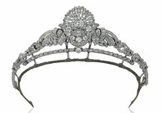 art Deco diamond tiara that can be broken up and worn as a brooch, earrings and bracelet.