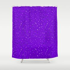 Speckles II: Purple Shower Curtain #speckles #pattern #surface #purple #Photoshop #royal #regal #bright #shop #Society6 #product #spotty #splatter #mess #fun