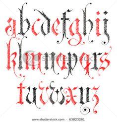 Typography Alphabet :: Gothic Calligraphy