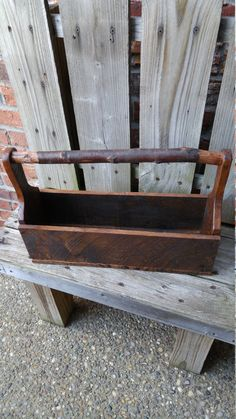 Rustic Pallet Wood Tote by GuernseyLane on Etsy