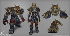 WOD - Frost Wolf Armor, Ariel Fain on ArtStation at http://www.artstation.com/artwork/frost-wolf-armor