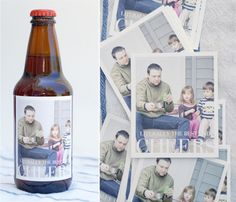 To give a great beer tasting gift pack: Pick out a selection of different brews, ones he'd love but not normally try or has been meaning to try. Remove labels & save by laying them on sheets of paper to connect the tab to the actual brew. Write a quick note why it was chosen (special meaning, fun label, etc.). Replace labels with photo labels of the family & pack up in a simple box.