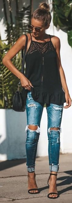 40 Trending Casual Outfits For Inspiration On Fall 2018 Lässige Outfits als Inspiration im Herbst 2018 01 The post 40 Trendige Casual-Outfits als Inspiration im Herbst 2018 appeared first on Frisuren Tips - Tattoo Casual Fall Outfits, Spring Outfits, Casual Summer, Girls Weekend Outfits, Black Summer Outfits, Autumn Casual, Spring Clothes, Country Outfits, Spring Dresses