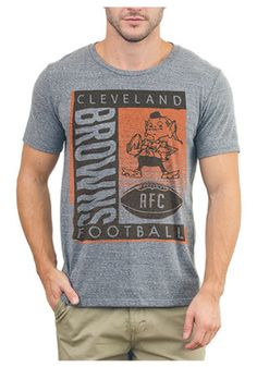 Cleveland Browns Mens Grey Touchdown Tri-Blend Fashion Tee