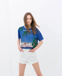 "Image 2 of ""GOOD MORNING"" T-SHIRT from Zara"