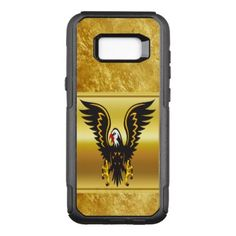 Comic strip Black and Gold eagle with gold foil OtterBox Commuter Samsung Galaxy S8 Case - fun gifts funny diy customize personal